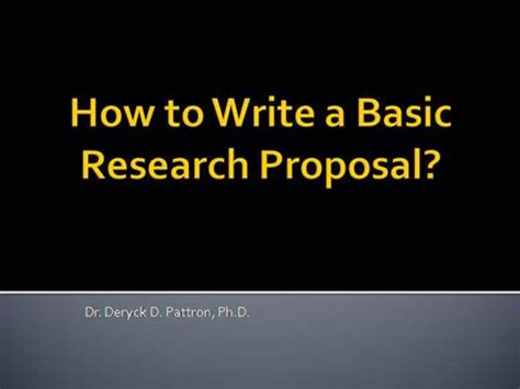 Main sections of research proposal